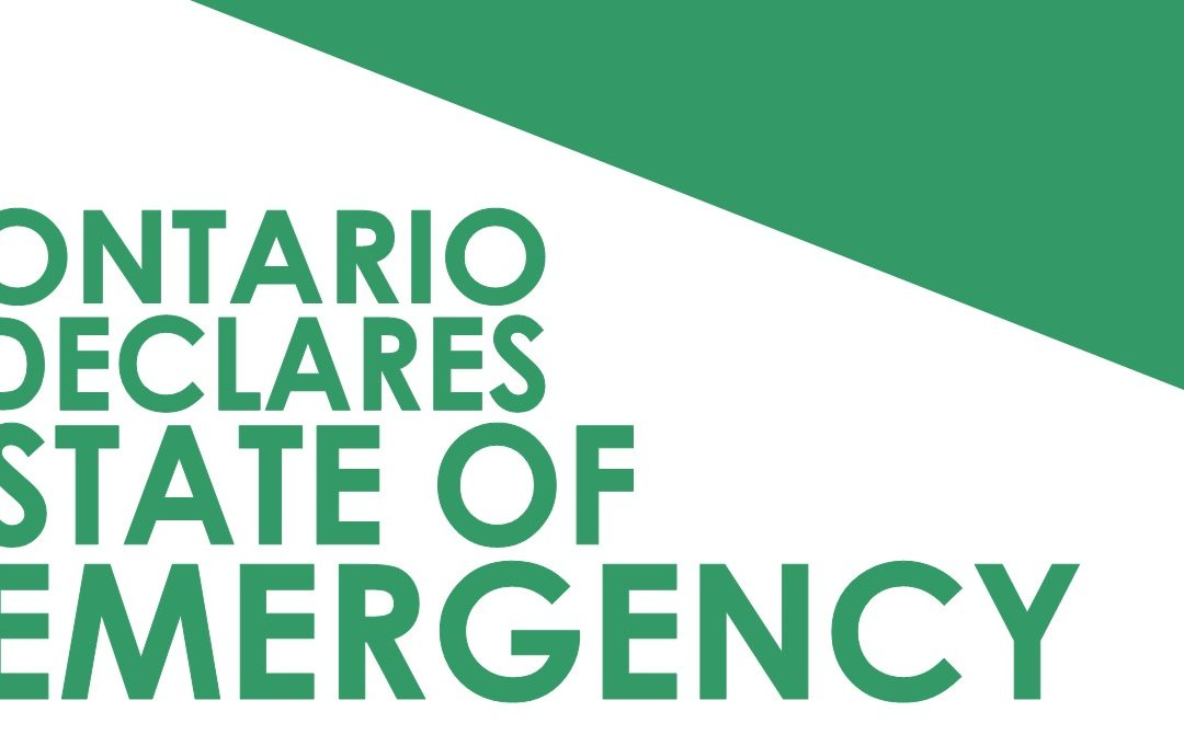 03/17/2020 Ontario Declares State of Emergency
