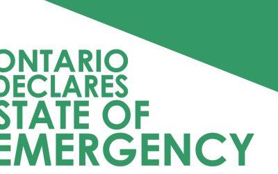 03/17/2020 Ontario Declares State of Emergency